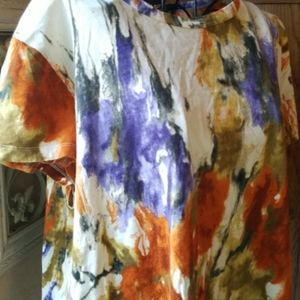 Cool color splashed artistic Vera Wang tshirt